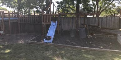 Has a play structure turned into a chicken coup? We can take down either and both.
