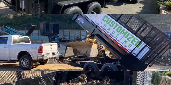 #Customizedhauling, Dump Trailer, Debris Box, Marin