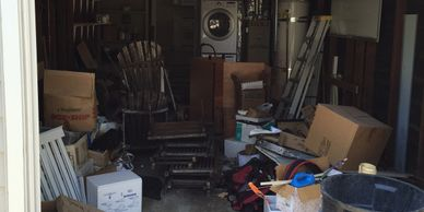 We clean garages like these up in a flash.  I see a lot of stuff to keep from the landfill.