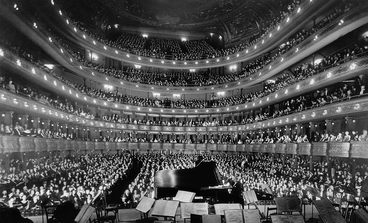 Concert hall piano live music