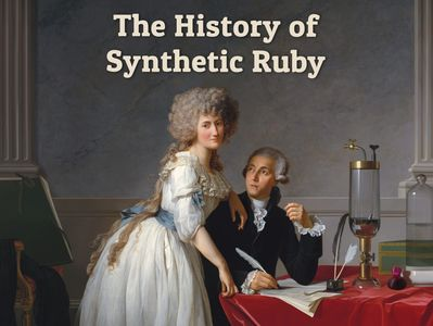 The History of Synthetic Ruby: Cover