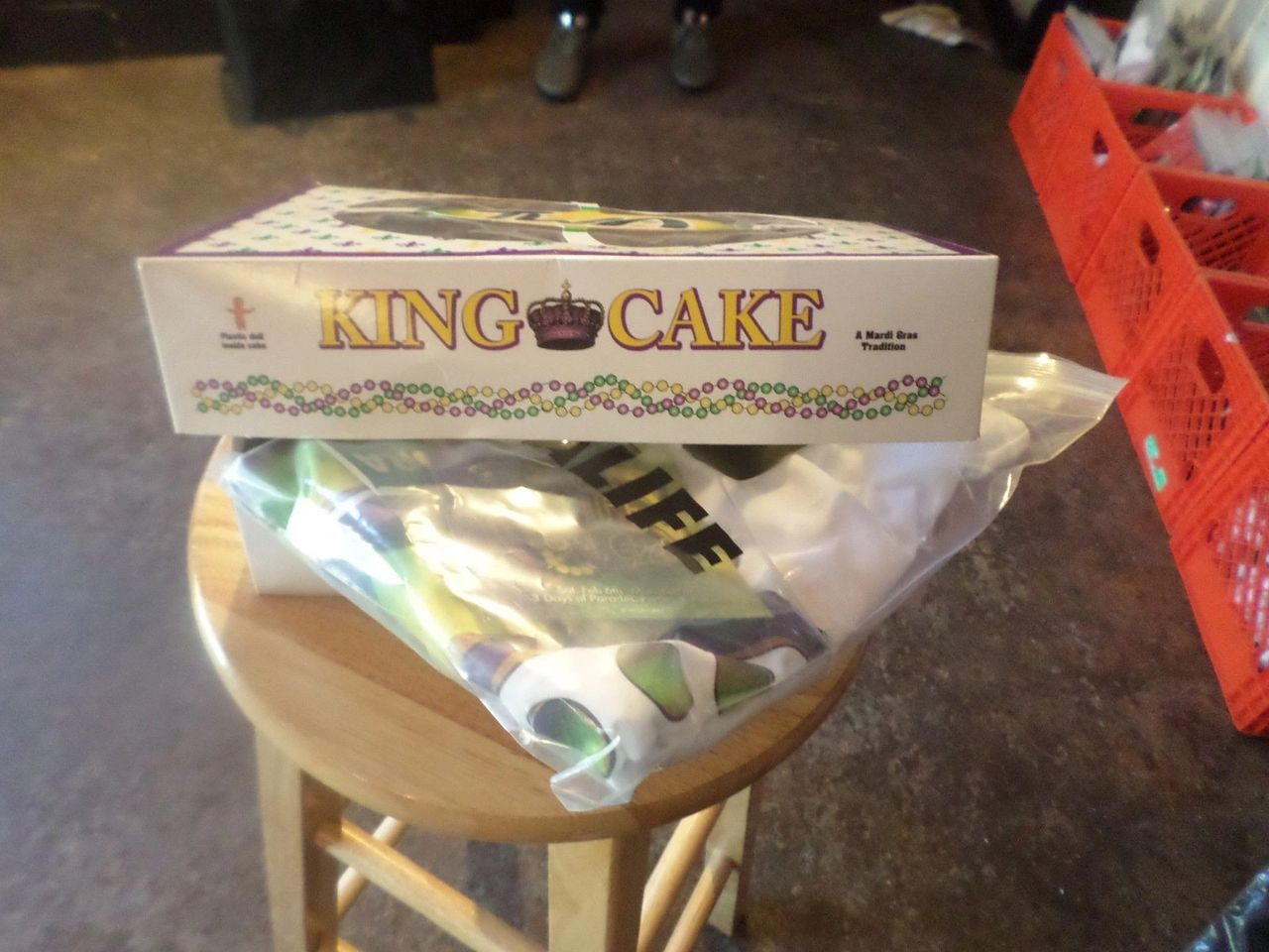 During Mardi Gras, the merch is king cake themed