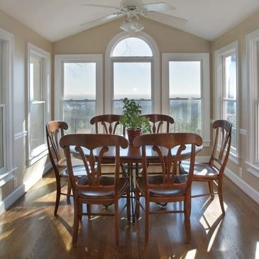 breakfast room, kitchen, updated dining room, staging for sale,