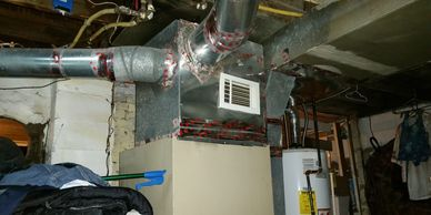 A furnace with bad ductwork