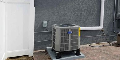 Compleated installation of an American Standard air conditioner