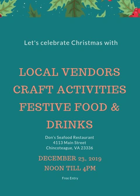 "{""blocks"":[{""key"":""aid3i"",""text"":""Knock knock! \n *Who's there?* \n It's the Shop the Dock crew, knocking your socks off during their FREE upcoming Christmas Craft Fair! What, that isn't how the joke goes? That's okay, we bet it made you smile anyway! "",""type"":""unstyled"",""depth"":0,""inlineStyleRanges"":[{""offset"":0,""length"":13,""style"":""BOLD""},{""offset"":98,""length"":4,""style"":""BOLD""}],""entityRanges"":[],""data"":{}},{""key"":""3v0ai"",""text"":"""",""type"":""unstyled"",""depth"":0,""inlineStyleRanges"":[],""entityRanges"":[],""data"":{}},{""key"":""9smq"",""text"":""Join us on December 23rd from noon til 4:00pm to get all your last minute Christmas needs!"",""type"":""unstyled"",""depth"":0,""inlineStyleRanges"":[],""entityRanges"":[],""data"":{}},{""key"":""e5dmu"",""text"":"""",""type"":""unstyled"",""depth"":0,""inlineStyleRanges"":[],""entityRanges"":[],""data"":{}},{""key"":""csi1b"",""text"":""Don's Seafood Restaurant"",""type"":""unstyled"",""depth"":0,""inlineStyleRanges"":[{""offset"":0,""length"":24,""style"":""BOLD""}],""entityRanges"":[],""data"":{}},{""key"":""2eifn"",""text"":""4133 Main Street Chincoteague"",""type"":""unstyled"",""depth"":0,""inlineStyleRanges"":[{""offset"":0,""length"":29,""style"":""BOLD""}],""entityRanges"":[],""data"":{}}],""entityMap"":{}}"