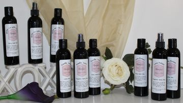 The Love Lines - Soaps, Lotions and Fragrance Sprays for all three scents with a rose and flower...