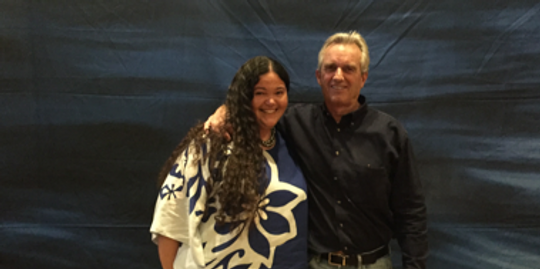 Rhiannon Chandler-'Iao, Executive Director pictured here with Robert F. Kennedy Jr.