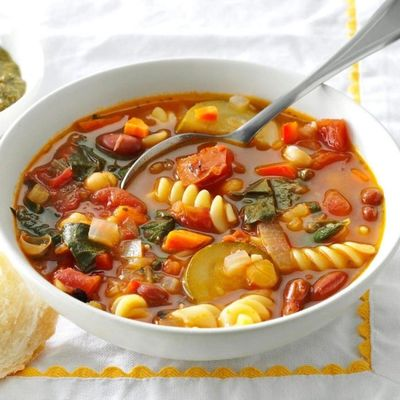 Hearty and delicious gluten free soup. Keep it vegan/vegetarian with vegetable broth.
