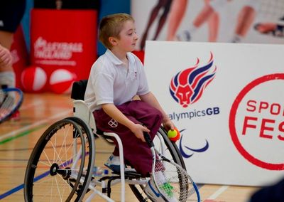 Aiming High. A film made by young filmmakers about Ian Payne wheelchair tennis player.