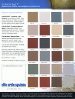 Outdoor UV protectective colors for concrete overlays