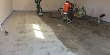 preparing a garage floor for epoxy coating