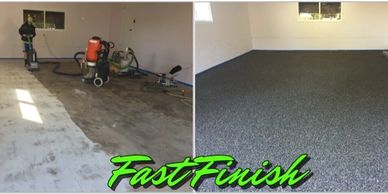 From start to finish an epoxy floor can often be complete within 2-3 days time and ready for service