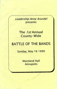 Anne Arundel County 1st Annual Battle Of The Bands Flyer