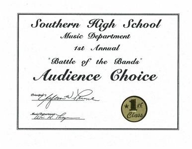 Southern High School Battle Of The Bands Award