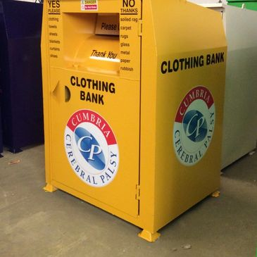 Clothing banks to helps to recycle clothes and fundraise for charity.