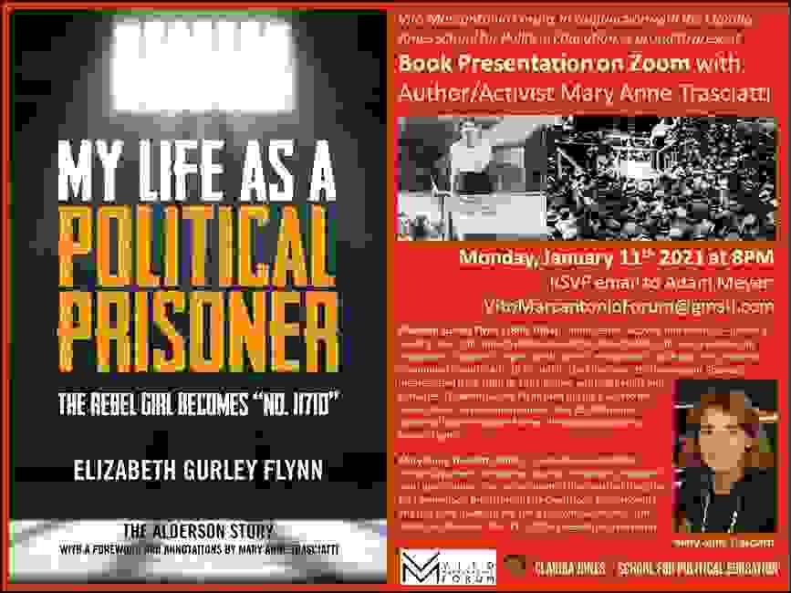 "My Life as a Political Prisoner: The Rebel Girl Becmes ""No. 11710"" by Elizabeth Gurley Flynn. This i"