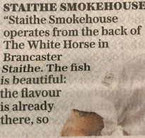Staithe Smokehouse newspaper article.