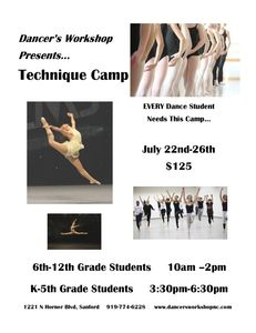 We hope EVERYONE can attend!!  Perfect opportunity to take your Dance to the Next Level!!!