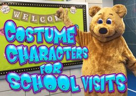 Costume Characters available for hire for schools, classrooms, fairs and festivals.