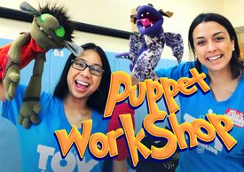 Puppet Workshops available for classrooms and recess time.