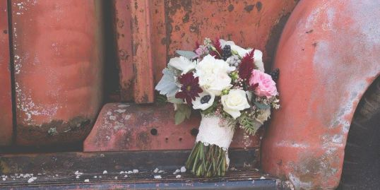 Fall Rustic Elegance with anemones Bridal Bouquet