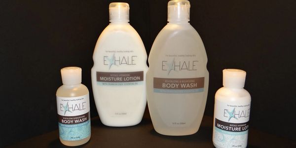 EXHALE all natural frankincense bath and body wash