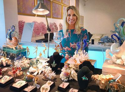 Melanie Cech at the Imagine Museum trunk show in December, 2018