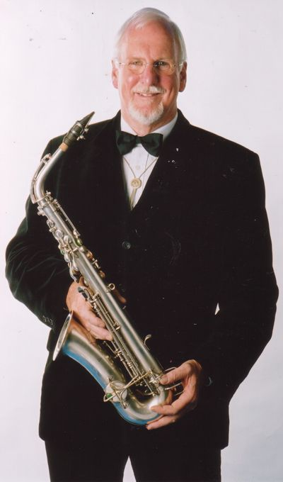 Terry McGrath playing the Saxophone