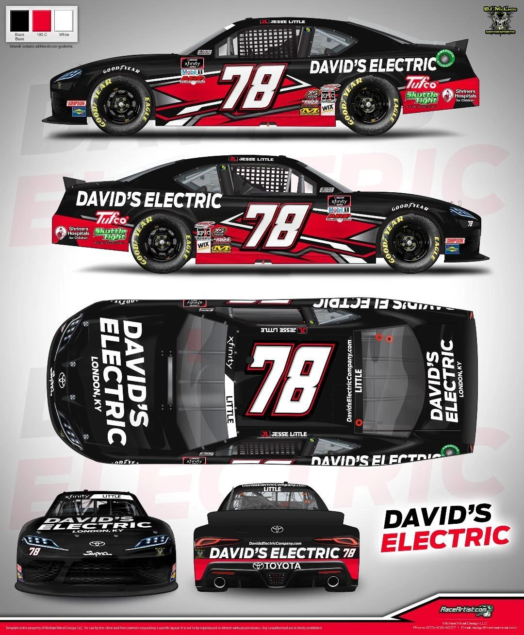 First Time Primary Sponsor - David's Electric to Join Jesse Little for the Contender Boats 250 at Homestead-Miami Speedway