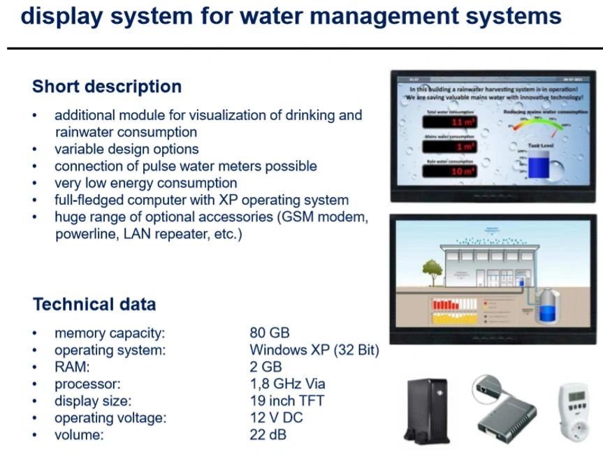 Computer, monitor, and software for water treatment systems for water purification