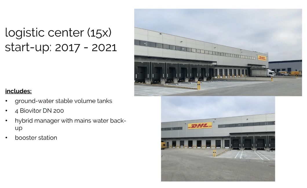 DHL Distribution Hub in Europe Water Management System Upgrade.