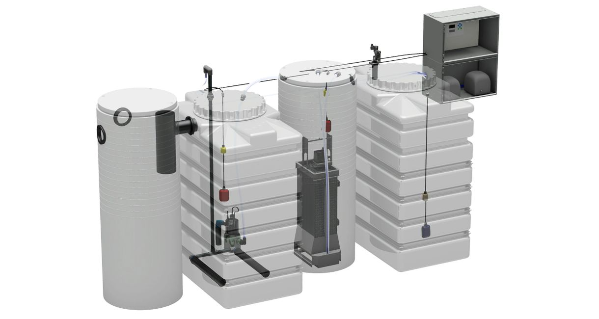 265 U.S. Gallon water treatment system for water purification