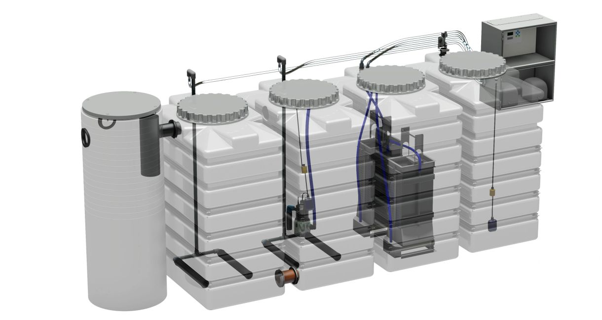 529 U.S. Gallon water treatment system for water purification