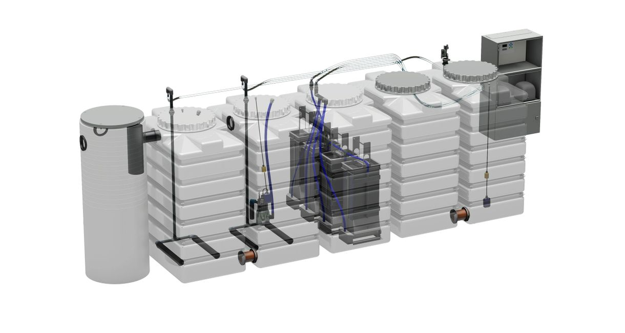 1,058 U.S. Gallon water treatment system for water purification