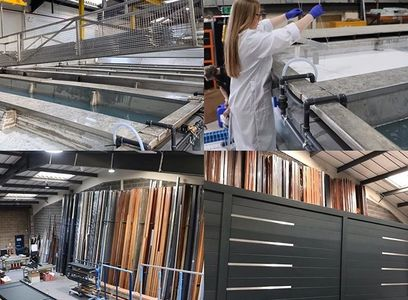 Dee Aluminium Gates are made here in the UK. A Bespoke service offering the best Aluminium Gates UK