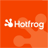 Hotfrog directory logo on orange background
