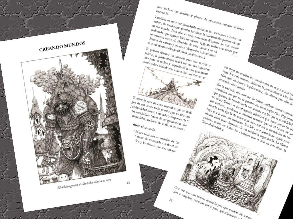 """Ilustraciones de """"Mundos Fantásticos: Guía para la creación de mundos de fantasía"""" - Cine de Escritor"""