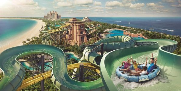 Wasserpark Aquaventure in Dubai auf The Palm Jumeirah