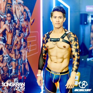 gCircuit Party Package 2020 Songkran in Bangkok, sexy thai boy mit Harness