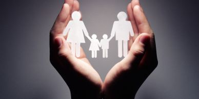Image of  family in cupped hands