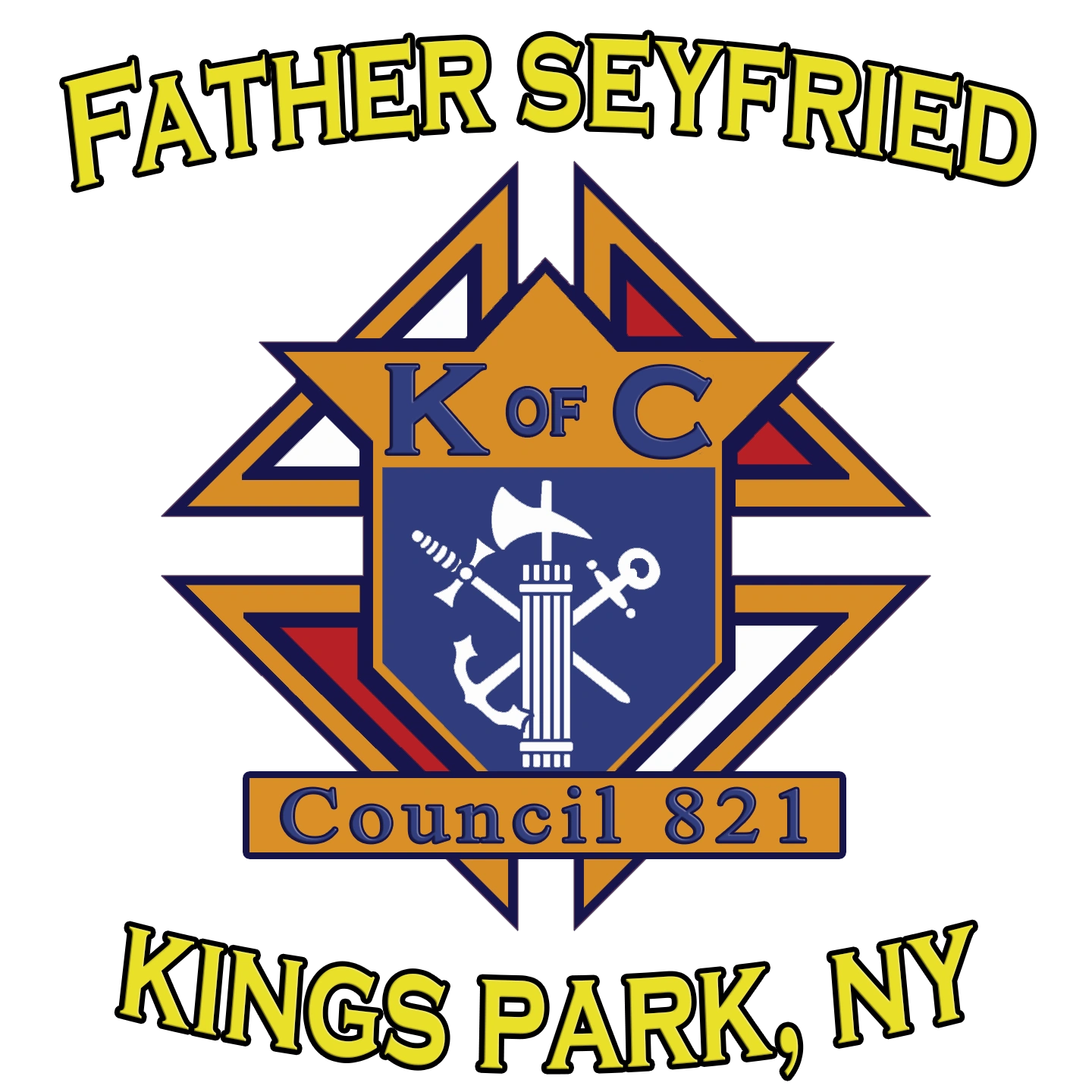 This is the Knights of Columbus Logo for  Kings Park Council. GK is Ronald Buell.  Join our council
