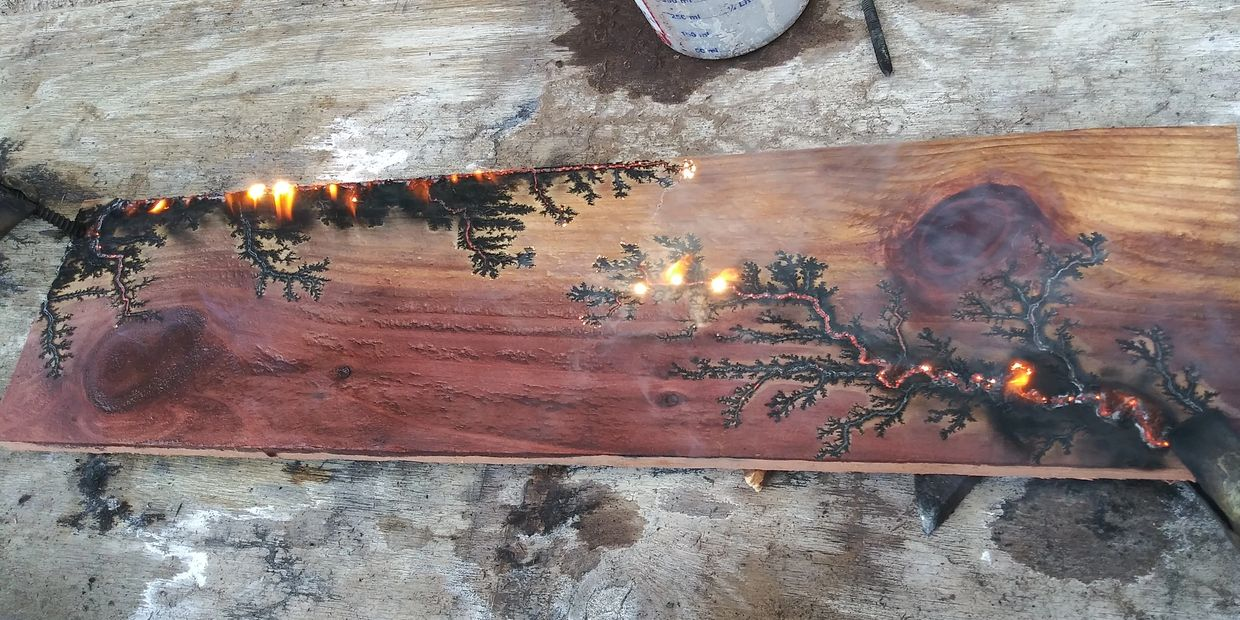 For those Non-believers! This is  shot of a smaller board being Fractal Burned.