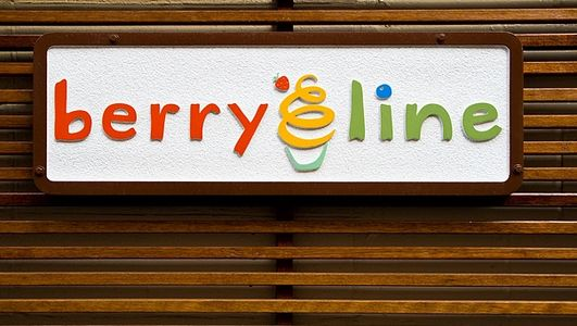 BerryLine sign at 3 Arrow Street in Cambridge MA.