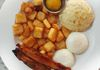 The Mini - 2 Eggs any style, choice of bacon, sausage or ham, an oven fresh scone, house made preserves and home fries