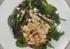 Garden Salad with Chicken drizzled with Blueberry Vinaigrette