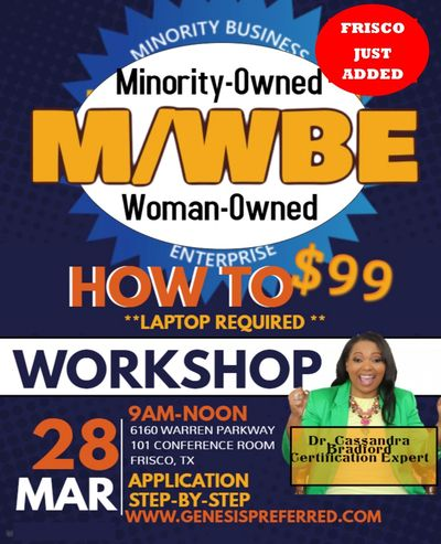 GET CERTIFIED AS A MINORITY OR WOMAN OWNED BUSINESS