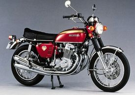 The Honda CB750 is an air-cooled, transverse, in-line four-cylinder engine motorcycle made by Honda
