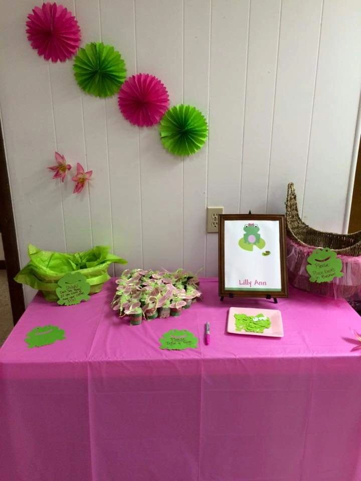 Frog and Lily pad Guest Book Alternative