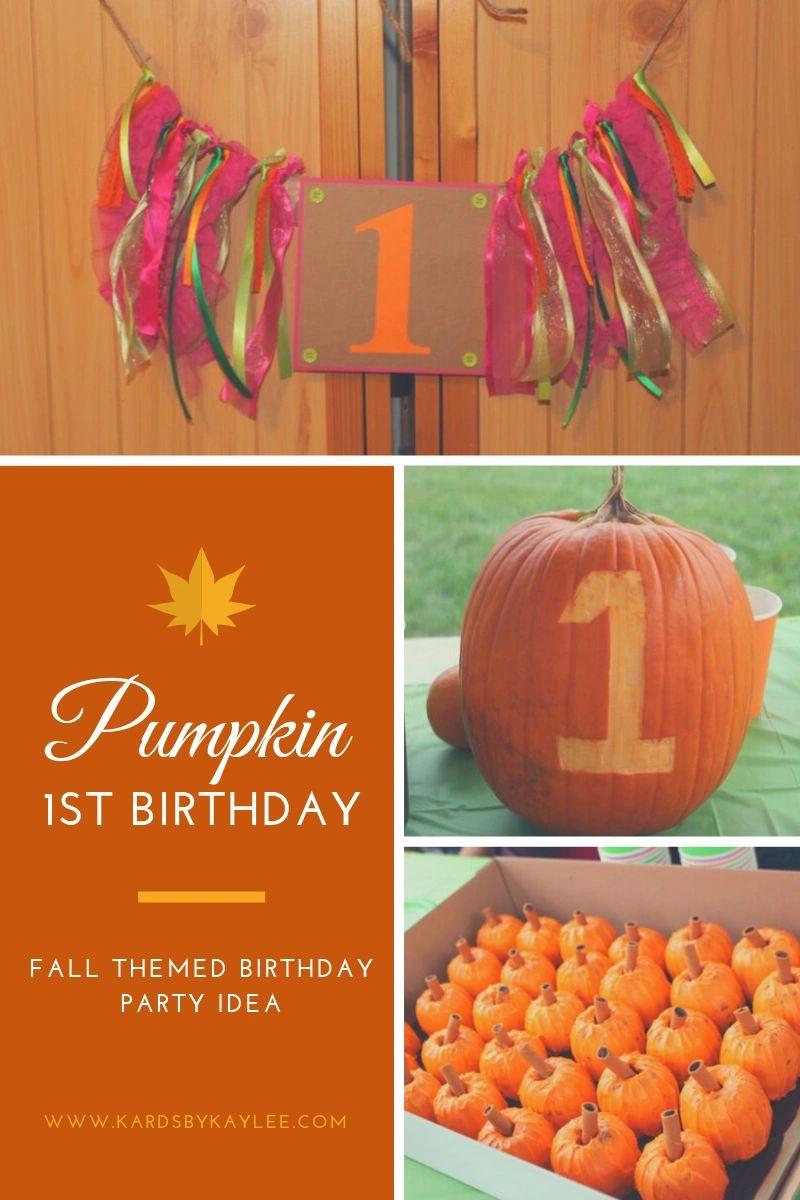 Pumpkin Birthday Party - Our Little Pumpkins 1st Birthday